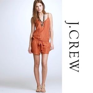 J Crew rust orange shorts romper xxs